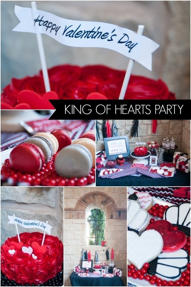 King Of Hearts Valentine S Day Party Valentines Birthday Party Valentines Day Party Boy Birthday Parties