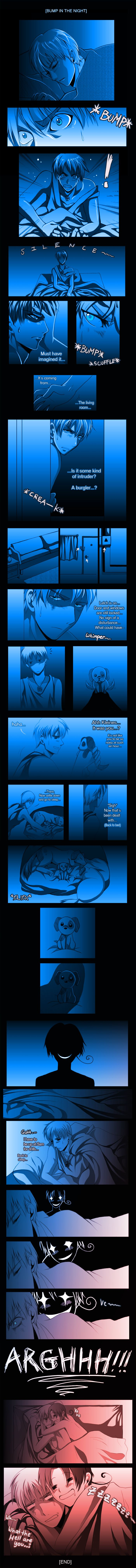 APH - Bump in the Night by R-ninja.deviantart.com on @deviantART - found this way too funny.. Ve~!