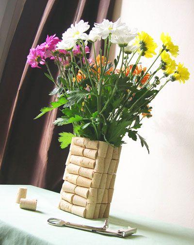 Vase en bouchon de liège