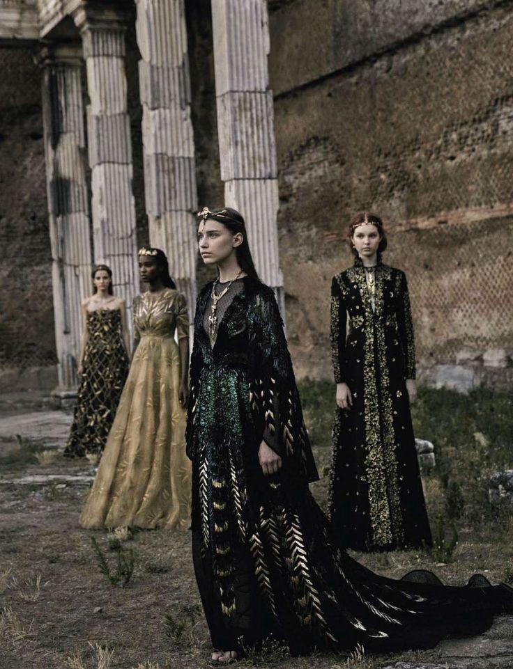 Valentino Haute Couture by Fabrizio Ferri for Vogue Italia September 2015