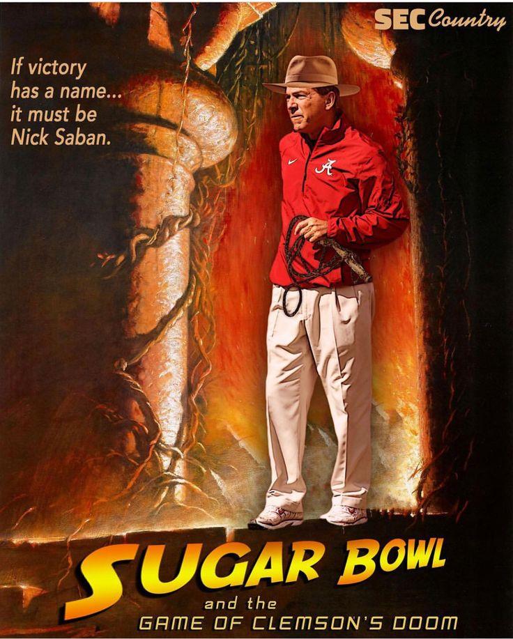 Alabama vs Clemson in the Sugar Bowl #Alabama #RollTide #Bama #BuiltByBama #RTR #CrimsonTide #RammerJammer