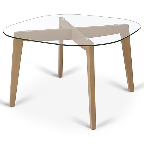 Zepplin tables rondes tables carr es tables chaises table ronde en verre - Table ronde en verre ikea ...