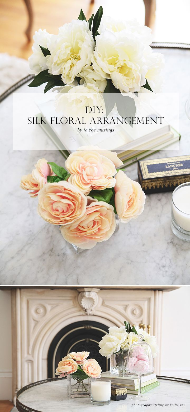 Diy Silk Flower Arrangements Perfect For Your Coffee Table