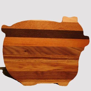 Hardwood Pig Shaped Cutting Boards