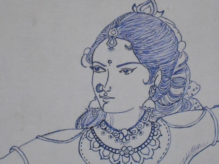 My Drawing With Ink Pen.  Replica Of My Favorite Artist Manian Selvam ( ம.செ. )