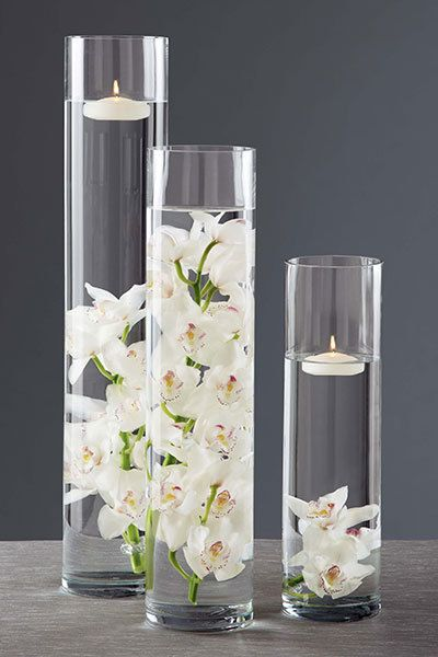 Clear Cylinder Glas Vase Centerpiece 4 Inch Open Bulk By