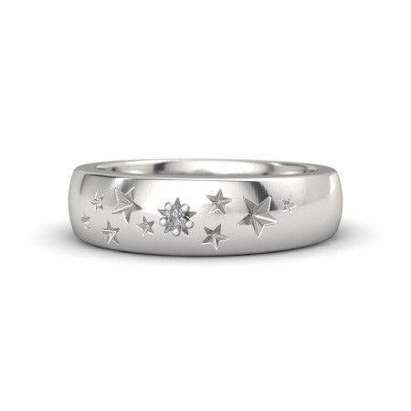 Sterling Silver Ring with Rock Crystal - Supernova Band | Gemvara