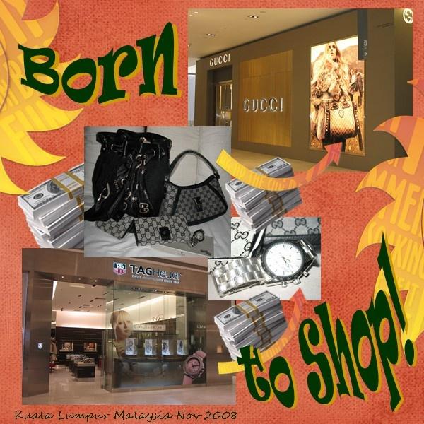 Born to Shop - Scrapbook.com