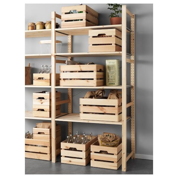 Knagglig Regal Ikea Knagglig Pine Box | Storage In 2019 | Ikea, Ikea