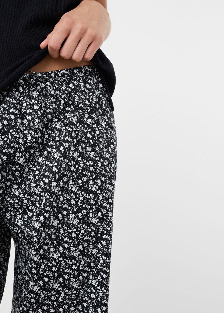 Pantalón algodón estampado | MANGO