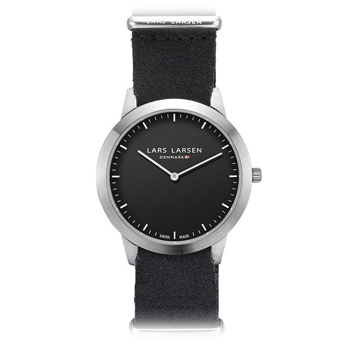 LW35 · Ladies watch · Black zulu strap. With the watch's black dial and black suede strap, you get a perfect ladies watch. You can quickly change the look by switching to bracelet.