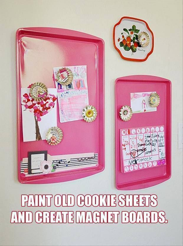 Maybe buy old cookie sheets at a thrift store & repurpose. 58bb755b79d4c3d07167a281d5870ac6.jpg (620×831)