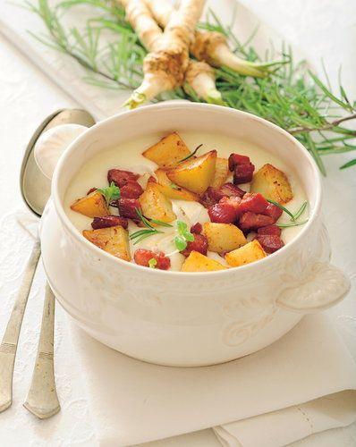Chrzanowa z ziemniakami i boczkiem - Przepis - Onet Gotowanie