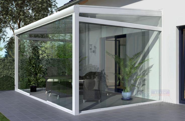 REXOslide Glasschiebewand - 3m Breite, 4-spurig, vorbereitet für 8mm Glas