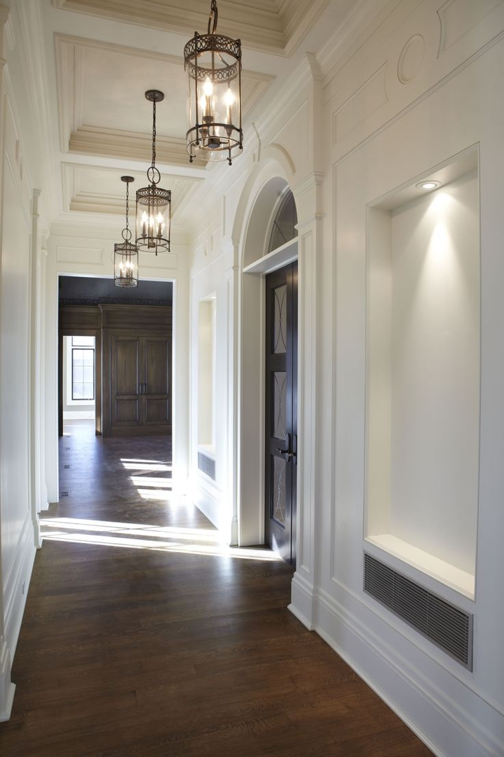 289 best home entry and main staircase images on pinterest for Hall entrance door designs