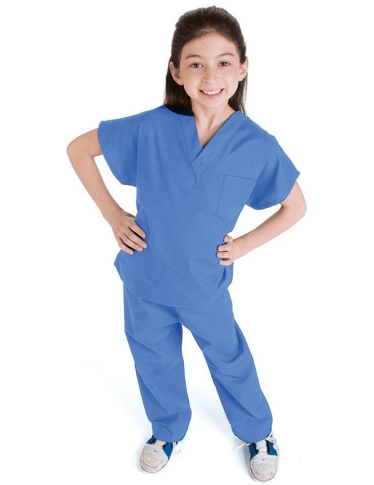 Child's Basic Scrub Set - Ceil Blue - Scrub Shopper