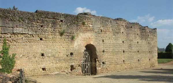 Aula de Doue-la-Fontaine- LOUIS 1°, 3) ROI D'AQUITAINE (781-814), 2: ..battu par un corps de l'armée musulmane. On peut citer aussi GEGON, gendre de Louis à partir de 806, et HELISACHAR, son chancelier en 814. Durant cette période, Louis vit le plus souvent dans ses domaines angevins: à DOUE près de Saumur, Anjac, Cassinogilum et Ebreuil, ou encore Jocundiacum (le Palais sur Vienne près de Limoges).