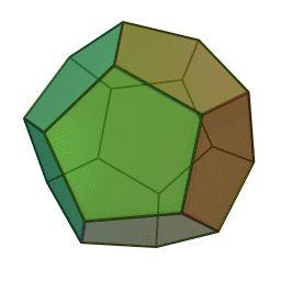 """El DODECAEDRO con 30 aristas, 12 caras pentagonales, 20 vértices, representa el quinto elemento (eter, prana, chi, Akasha). Considerado el """"Poder Femenino de la creación y la Forma Madre""""."""
