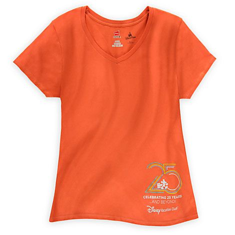 3cc3bccc Disney Vacation Club Tee for Women - 25th Anniversary | Disney Parks  Authentic Merchandise | Pinterest | Disney vacation club, Disney  merchandise and Disney ...