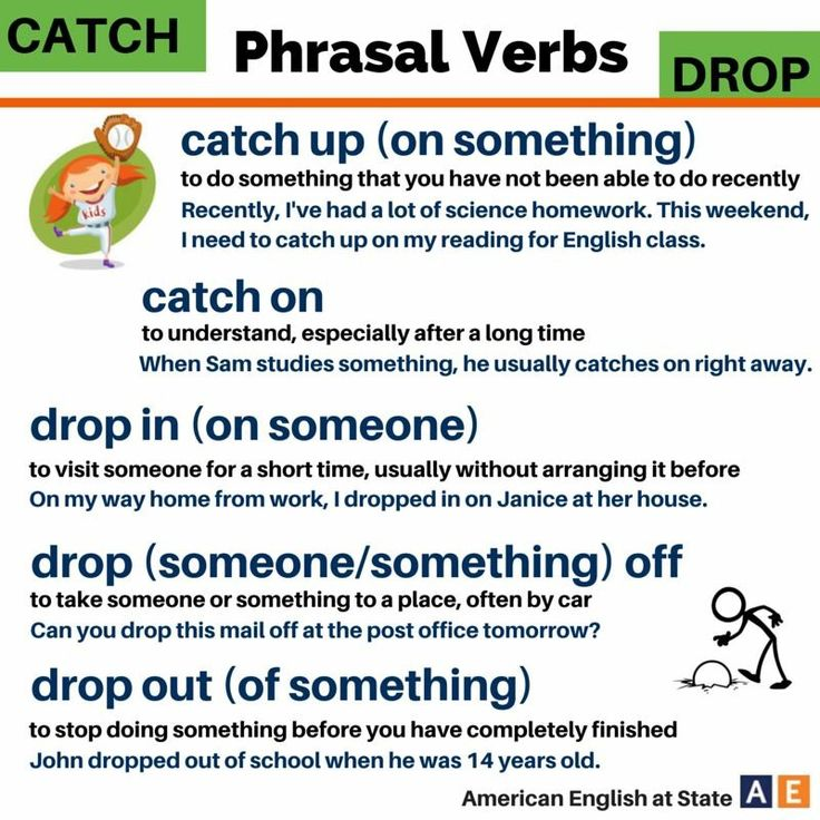 Phrasal verbs with 'CATCH' and 'DROP' #learnenglish