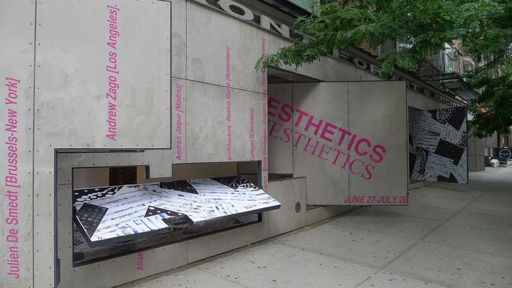 Steven Holl´s Gallery from the early 90s in NY:  installation view at the Storefront for Art & Architecture, New York