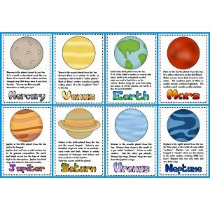solar system fact cards - photo #2