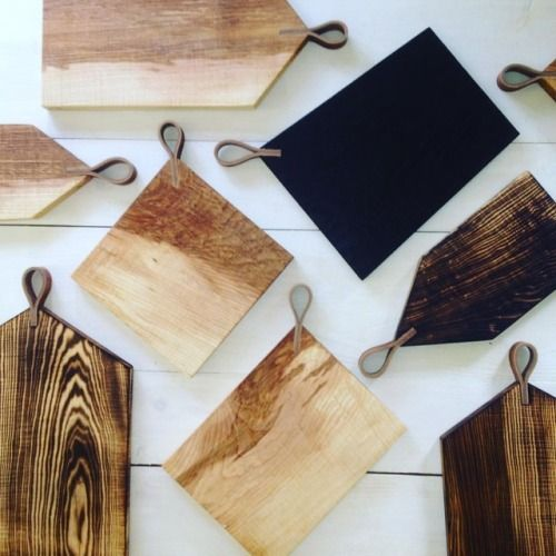 New boards! New shapes! New toasted style! #servingboards...