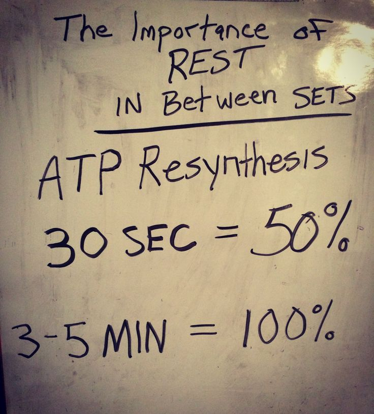 If you are engaged in high power and high strength events like Olympic weightlifting, powerlifting, plyometrics, or sprinting, rest is crucial for optimal performance. Too short of a rest can cost you the next attempt. The numbers vary depending on the source, but you should give yourself at least a couple minutes in between heavy lifts and max effort events.  ATP is kinda important. Let your body build it back up before crushing the next PR! #fitness