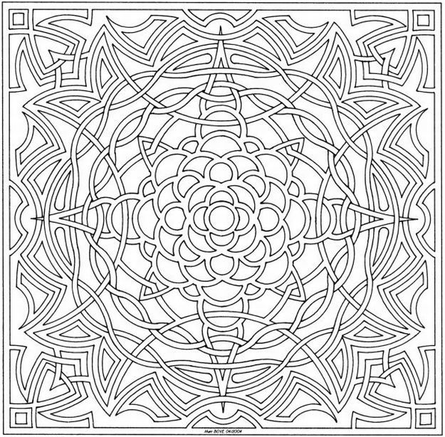 adult level coloring pages - photo#24