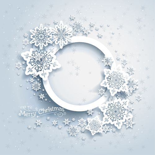 Christmas snowflakes backgrounds vector 04