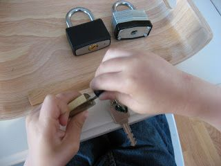 Fine Motor Friday- Lock and Key - No Time For Flash Cards. Help Me Grow