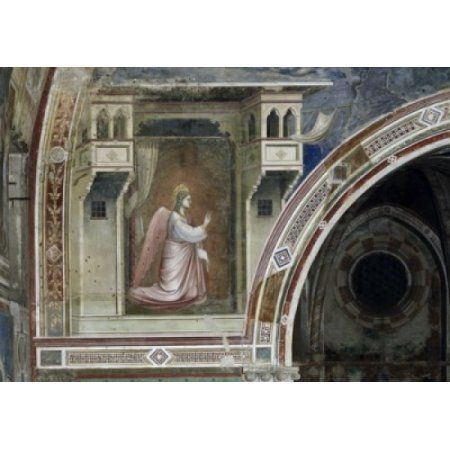 The Angel Gabriel 1303-1306 Giotto (ca 1266-1337 Italian) Fresco Capella Scrovegni Padua Italy Canvas Art - Giotto di Bondone (18 x 24)