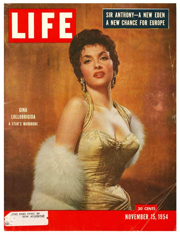 Life magazine, November 15, 1954 — Gina Lollobrigida ...