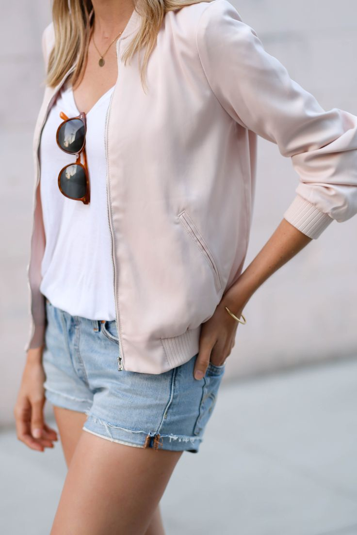 Pink bomber jacket | Adorned With Love