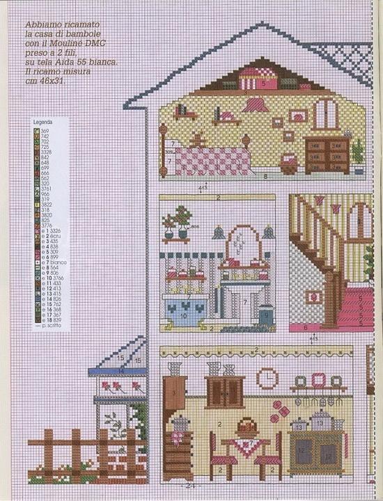 25 best images about punto de cruz casa de mu ecas on pinterest. Black Bedroom Furniture Sets. Home Design Ideas