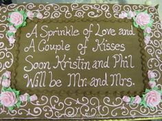 Image result for bridal shower sayings for cakes