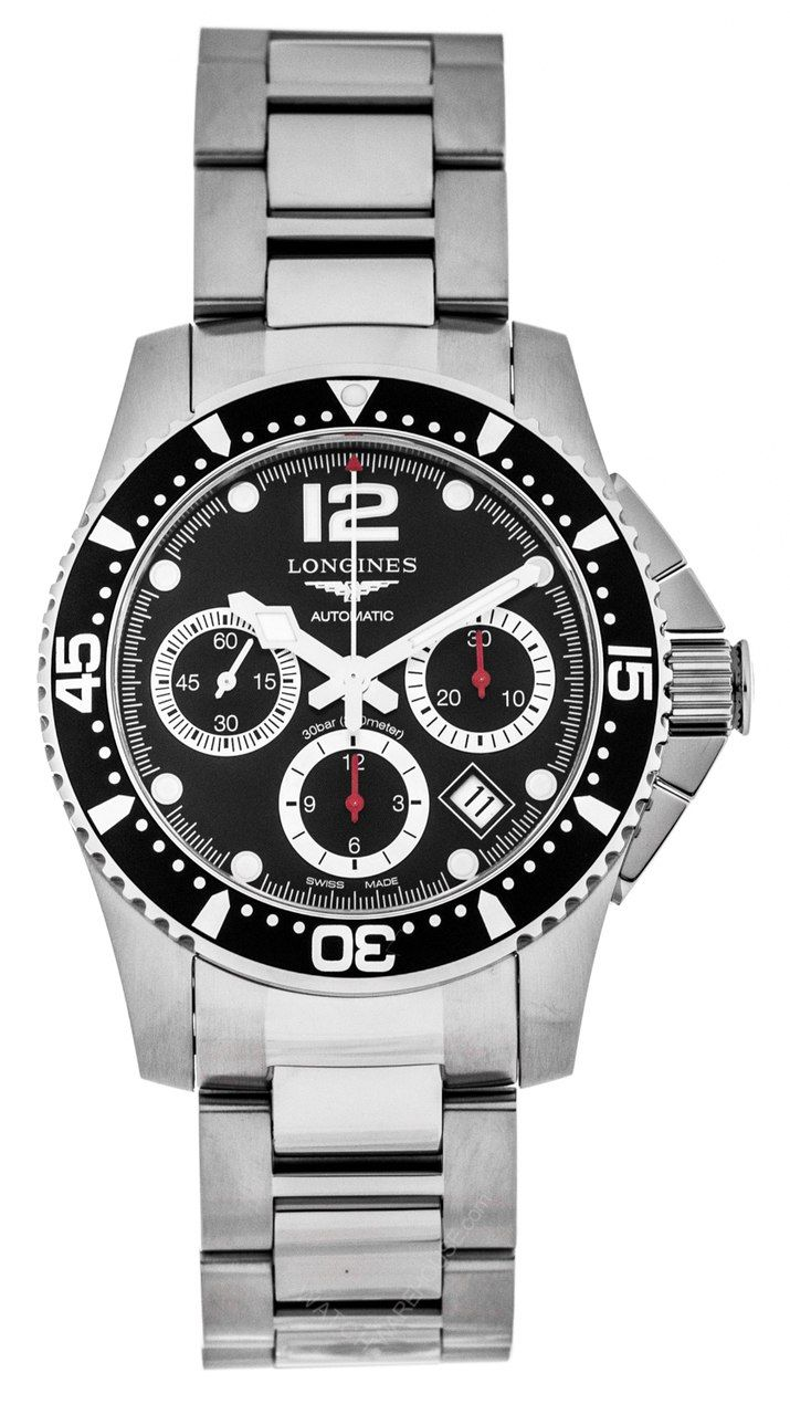 8b316c4ed LONGINES HydroConquest 41MM Automatic CHRONO SS Men's Watch L37444566   Longines  Watches   Watches for men, Longines hydroconquest, Watches