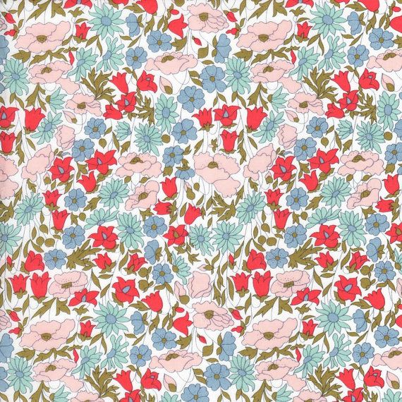Liberty Fabric Poppy and Daisy A Tana Lawn by Alicecarolinesupply