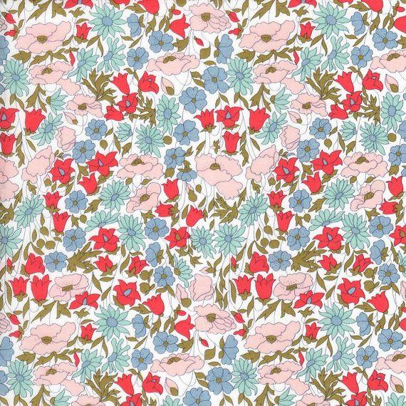 Liberty Fabric Poppy and Daisy A Tana Lawn by Alicecarolinesupply
