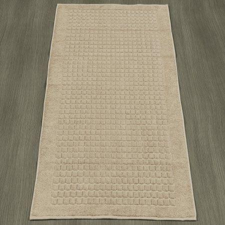 Ottomanson Heavyweight Cotton Towel Bath Tub Mat Runner, 20 inch x 59 inch, Turkish Cotton, Beige