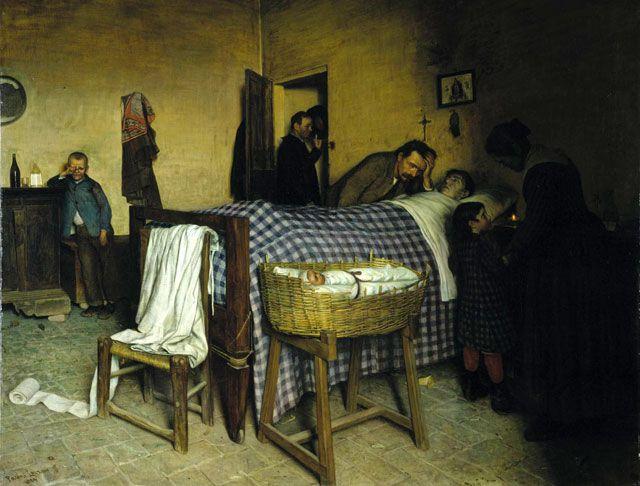 In soffitta, Lazzaro Pasini, 1884, Olio su tela, Musei Civici di Reggio Emilia