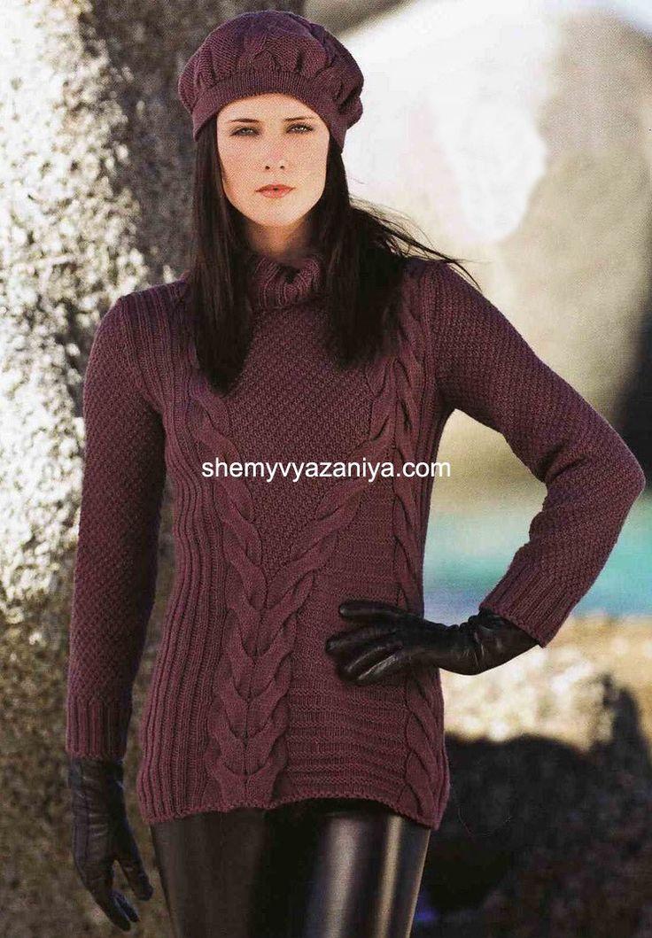 Ассиметричный свитер и шапочка