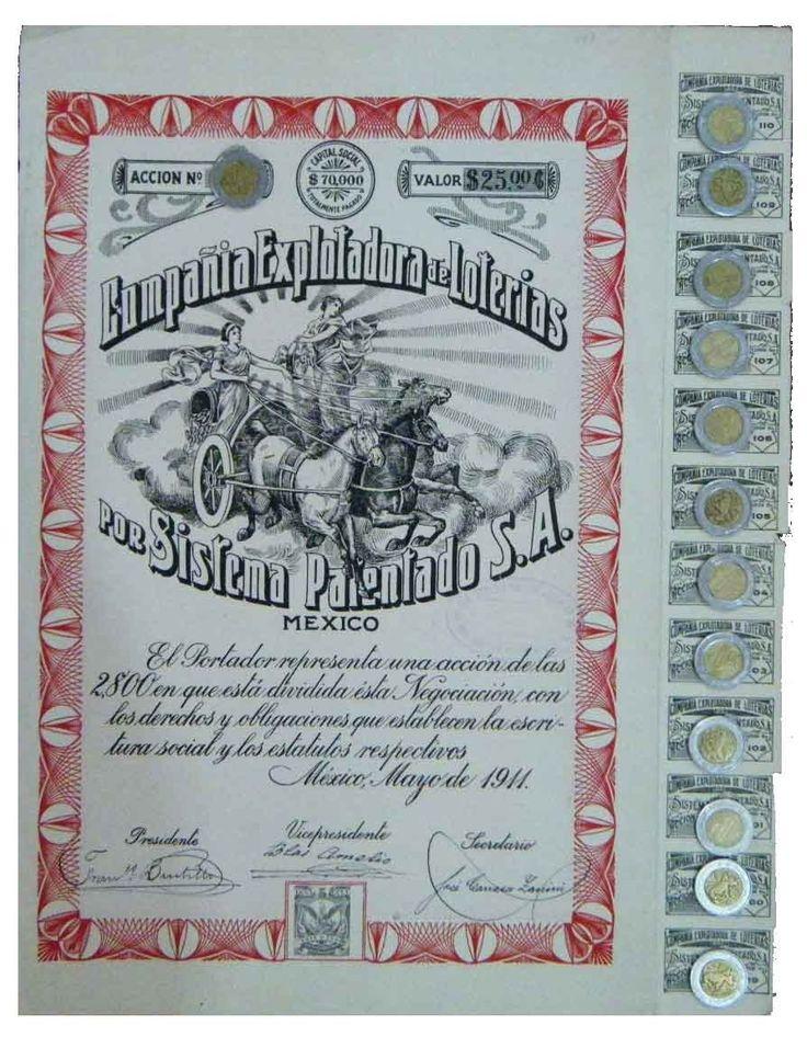 Accion Compañía Explotadora De Loterias (id: 635) - $ 775.00