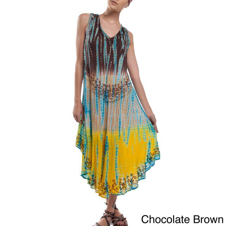 Tara's Summer Rayon Sundress (India) - Overstock™ Shopping - Great Deals on Women's Clothing