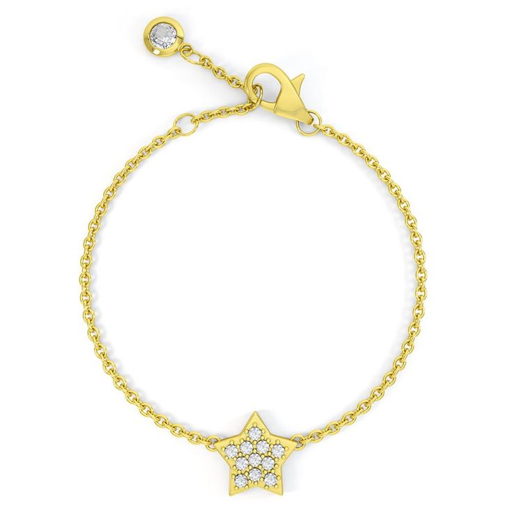 Charmisma Diamond Star 18ct Yellow Gold Bracelet