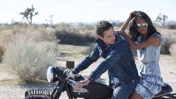пара, девушка, парень, мотоцикл, свидание, природа
