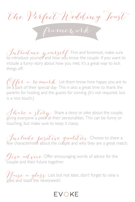 how to write a wedding toast