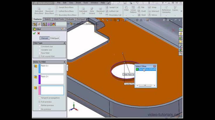 Here is video of #SOLIDWORKS 2014 Mold Design - Straddle Faces, see here: https://www.youtube.com/watch?v=H5szOH_0Fa0