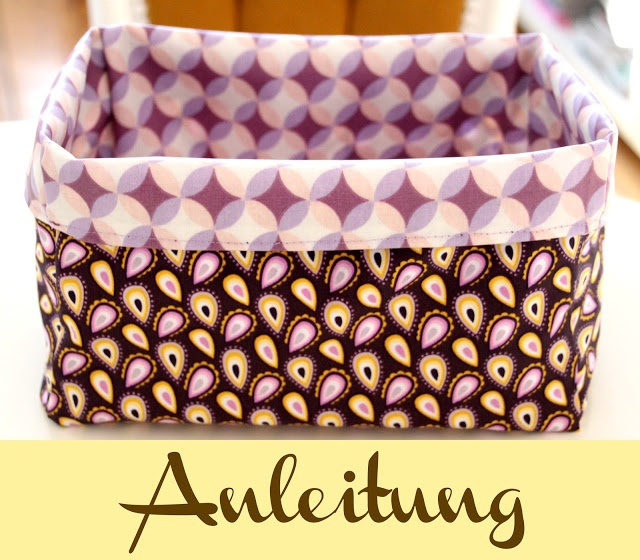 Pech: Korb nähen - Anleitung Fabric baskets, three sizes. Patterns are linked, in Danish. Google may translate.