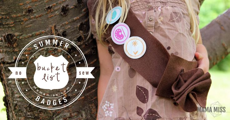 A list of things to accomplish this summer - a summer bucket list - in a fun wearable way - WITH MERIT BADGES!